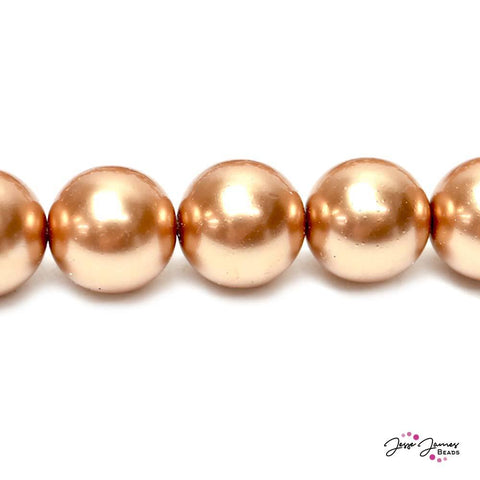 Copper Big Boy 16mm Czech Glass Pearls