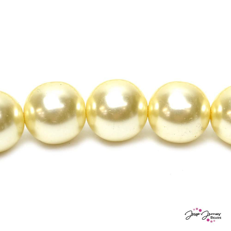 Creme Big Boy 16mm Czech Glass Pearls