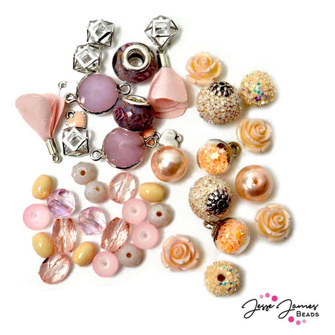 Crème de Pêche Design Elements Bead Mix
