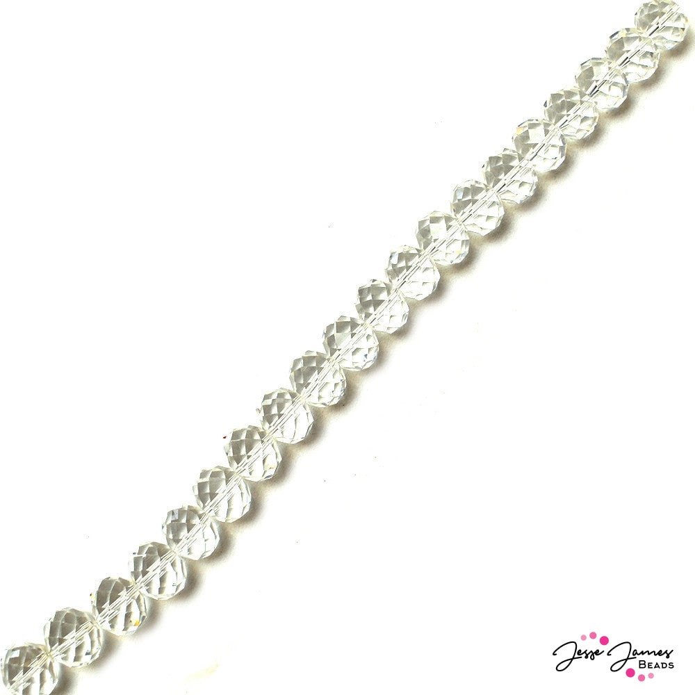 Crystal Clear 16mm Rondelle Bead Strand