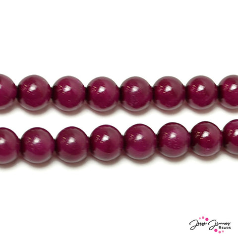 Purple Grape Special Effect Czech Beads 8 mm 50 pieces