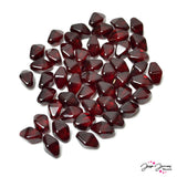 Red Garnet Lantern Czech Beads 13x10 mm 30 pieces