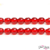 Red Cherry 6 mm Czech Glass Bead Set