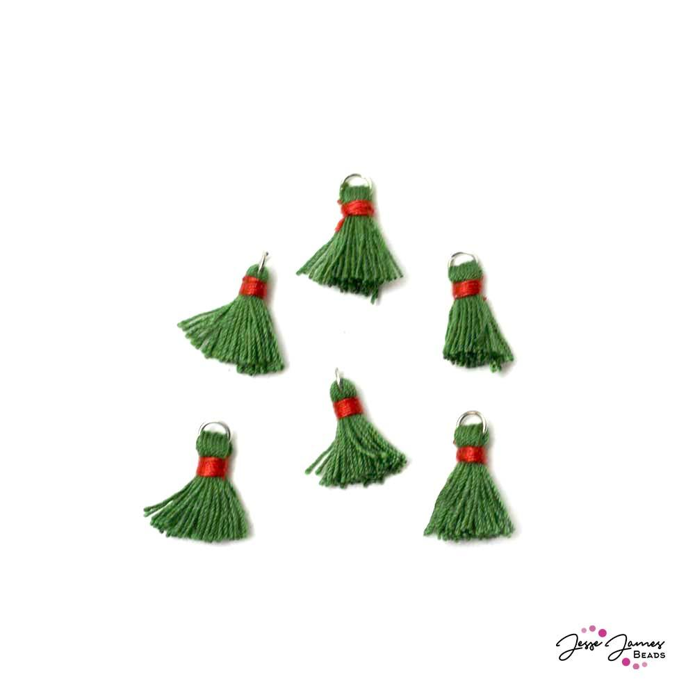 Deck The Halls Green Tassel Set