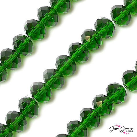 Kelly Green 14mm Big Boy Rondelle Beads