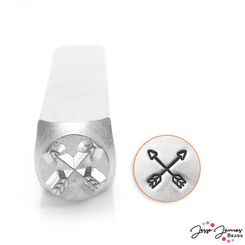 Design Stamp in Crossed Arrows 6mm