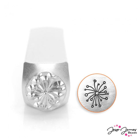 Design Stamp in Large Dandelion 9.5mm