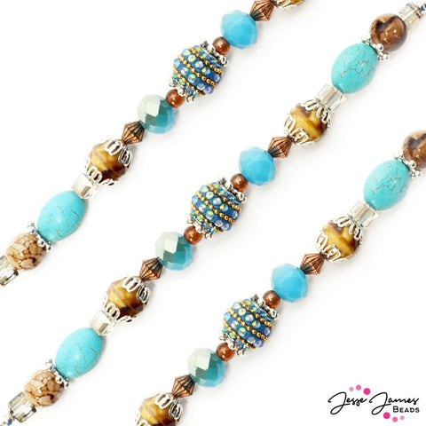 Designed By Me Bead Strand in Turquoise Trail