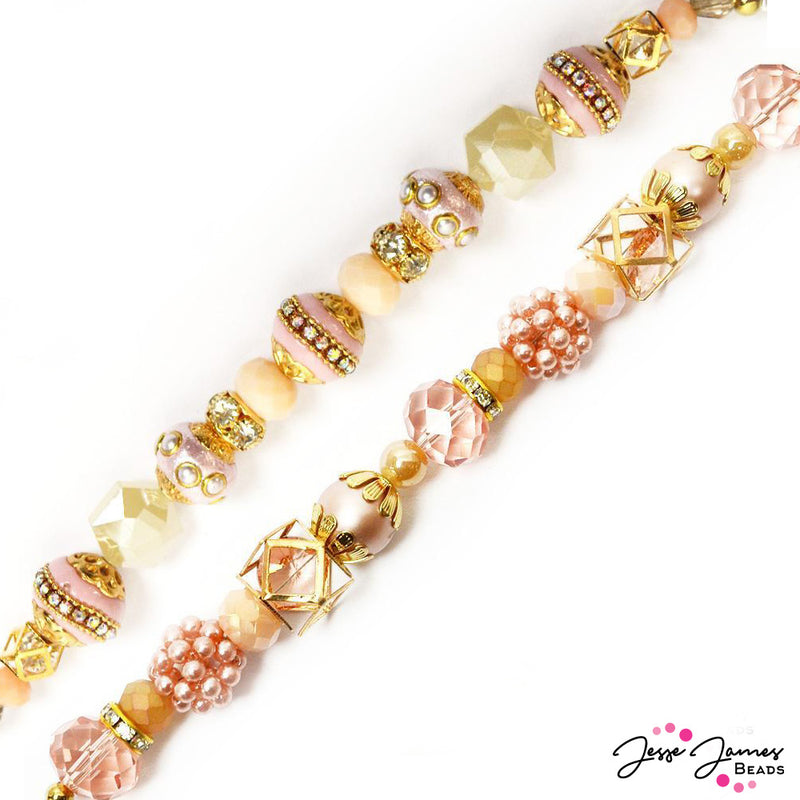 Designer Strand Duo in Peaches & Dreams