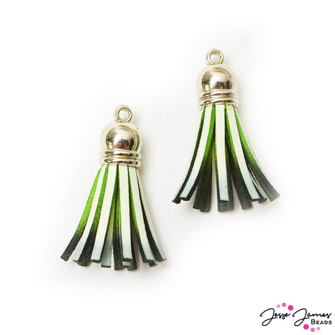 Tassel Pair in Dip Dyed Witches Green