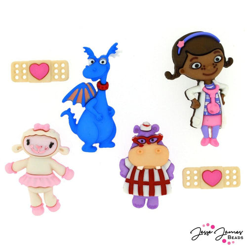 Doc McStuffins Dress It Up Button Embellishments