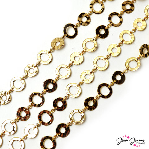 Chain Donut in Bright Gold Plate