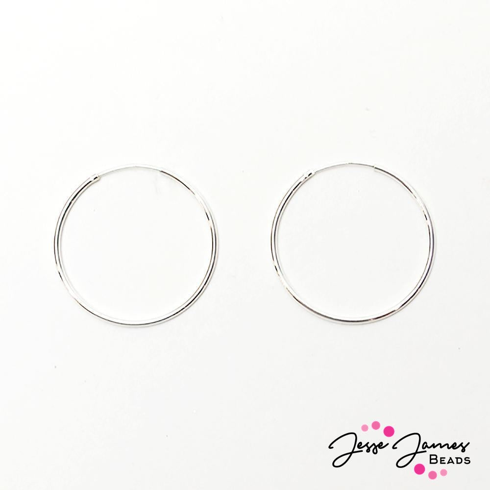 Halstead Sterling Silver Earring Hoops - Jesse James Beads