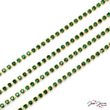 Preciosa Emerald & Gold Cup Chain
