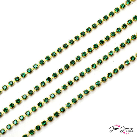 Cup Chain Preciosa Emerald & Gold