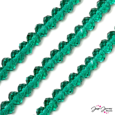 Bead Set in Emerald City Green 12MM Chichi Glass