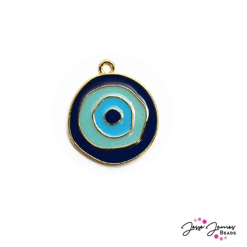 Evil Eye Charm in Purple, Blue, Green, & Turquoise