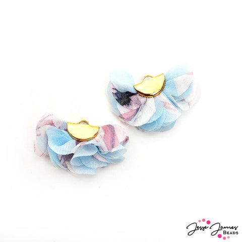 Floral Cha Cha Tassel Pair In Daydreamer