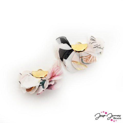 Floral Cha Cha Tassel Pair In Flowers For Grandma
