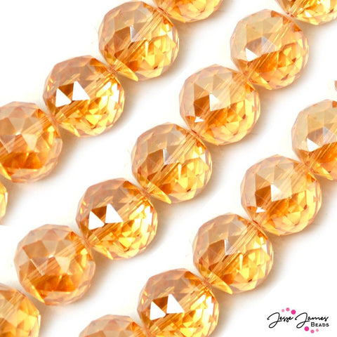 Bead Set in Florida Orange 20MM Big Boy Chichi Glass