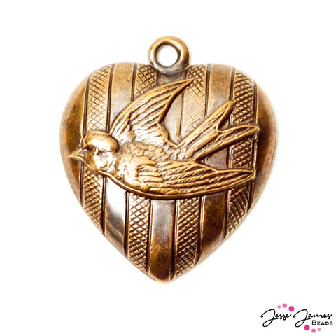 Pendant Vintaj Free To Fly Bronze Bird