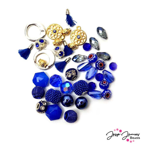Galaxy Blue Design Elements Bead Mix