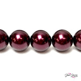 Garnet Big Boy 16mm Czech Glass Pearls