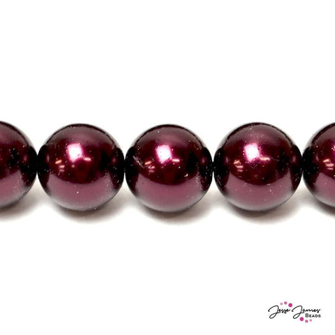 Red Garnet Big Boy 16mm Czech Glass Pearls