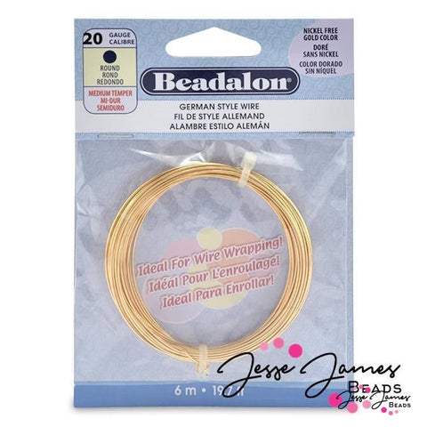German Style Hard Wire in Gold, 20g
