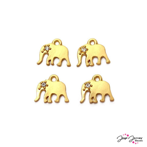 Charm Set Gold Elephant