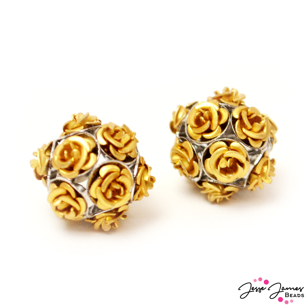 Bead Set Feeling Rosy Golden