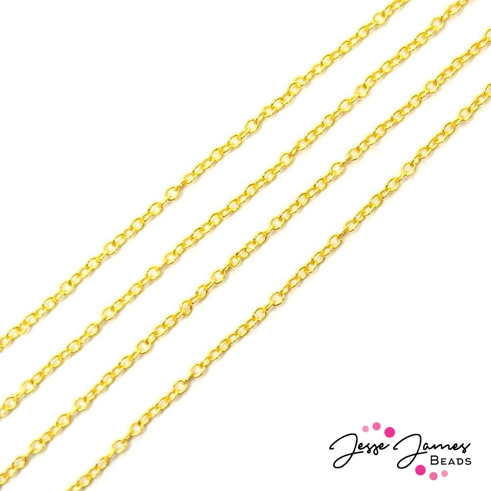 Bitty Thin Cable Chain in Gold