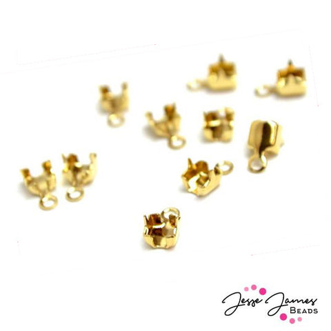 Cup Chain End Findings in Gold, 8.5ss