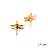 Earring Components Golden Dragonfly