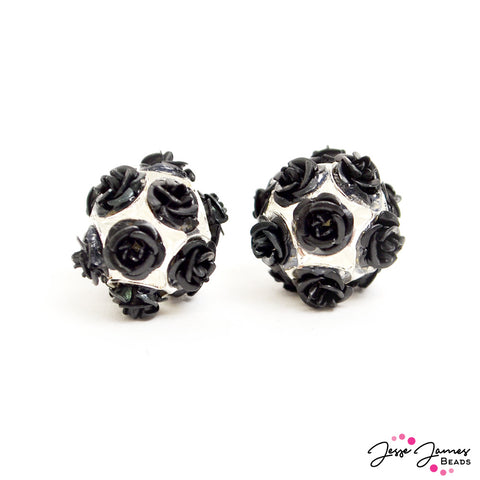Feeling Rosy Gothic Romance Rose Bead Pair