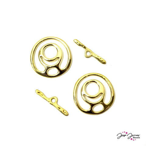 Grand Finale Gold Toggle Clasp Pair