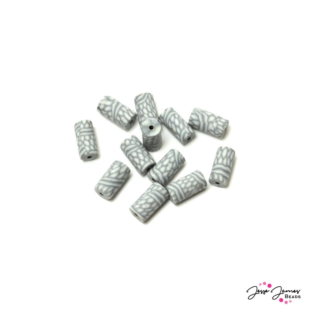 Grey Gecko Fimo Bead Set