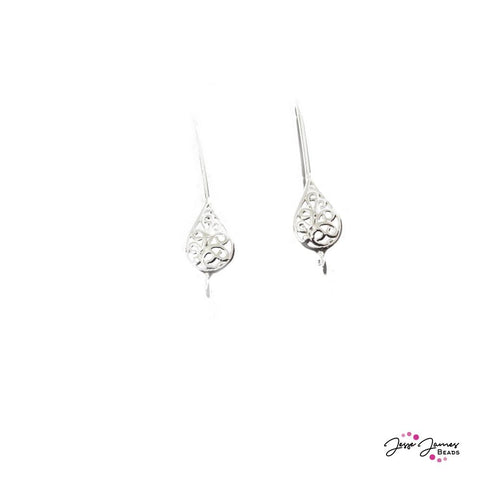Halstead Silver T-Drop Earring Wires