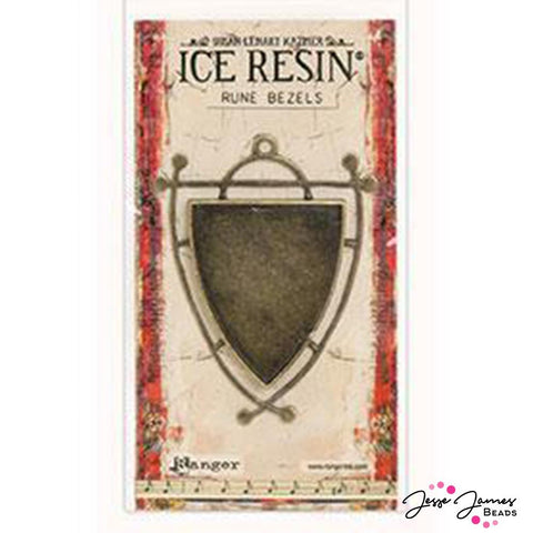ICE Resin® Antique Bronze Shield rune Bezel