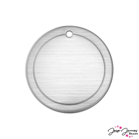 Impress Art Border Circle Set in Aluminum
