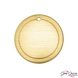 Impress Art Border Circle Set in Brass