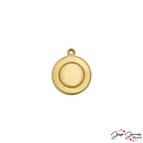 Impress Art Border Circle with Ring Set in Brass