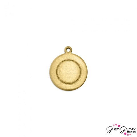 ImpressArt Border Circle with Ring Set in Brass