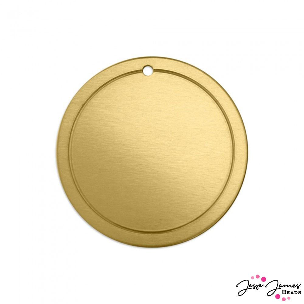 Impress Art Large Border Circle Set in Brass