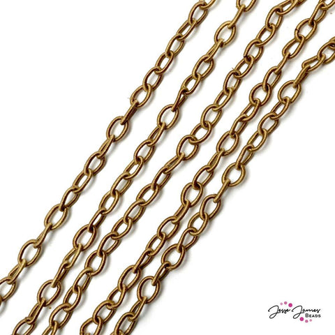 Chain Light Brown Fiber