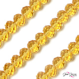 Sunset Gold 14mm Big Boy Rondelle Glass Beads