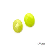 Lime Punch Jade Bead Pair