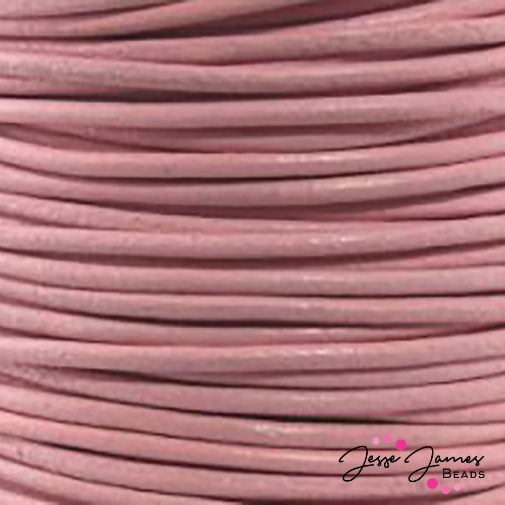 Light Pink 0.5 MM Leather Cord