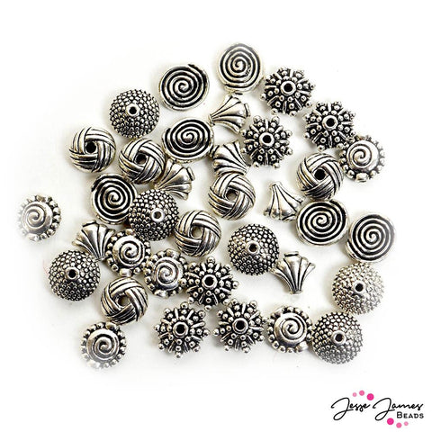 Metal Bead Mix in Timeless Silver