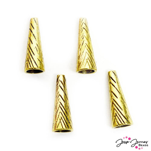 Metal Bead Cone Set in Triangle Gold